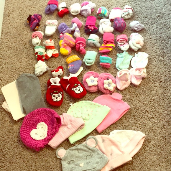5a5bf2e38cdb5 Accessories | Bundle Of Baby Girl Socks Hats Tights Mittens | Poshmark